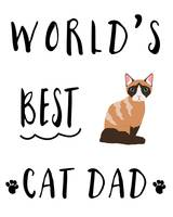 Worlds Best Cat Dad Domestic