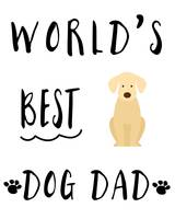 World's Best Dog Dad Golden Retriever