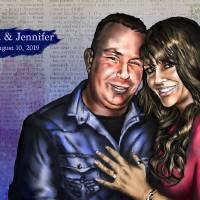 """Scott and Jennifer"" by mjacedesigns"