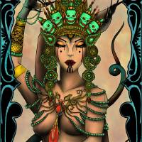 Temptress Art Prints & Posters by Lyrin Bailey