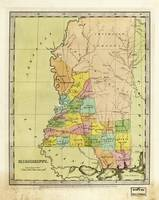 Map of Mississippi (1835)