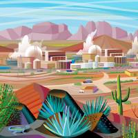 """Power Generating Station in Desert"" by charker"