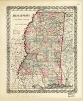 Map of Mississippi (1855)
