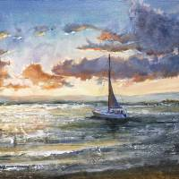 Sunset Chasers Art Prints & Posters by Linda Marino