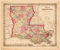 Louisiana Map by J.H. Colton (1855)