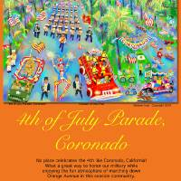 """Poster, 4th of July Parade, Coronado"" by MichaelIves"