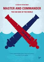 No1060 My Master and Commander minimal movie poste
