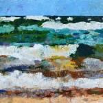 Waves Crash - Painting Version Prints & Posters