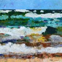 Waves Crash - Painting Version Art Prints & Posters by Michelle Calkins