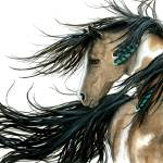 Turquoise Feathers Horse Prints & Posters