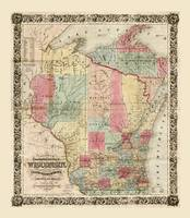 Colton's Township Map of Wisconsin (1851)