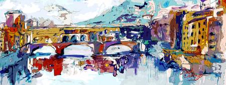 Abstract Ponte Vecchio Florence Italy