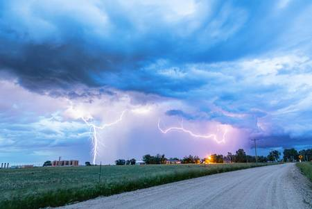 Chasing Fracking Lightning Storms