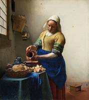 The Milkmaid (ca. 1660) by Johannes Vermeer