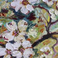 Dogwood Blossoms Oil Painting Art Prints & Posters by Ginette Callaway