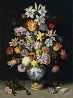 Ambrosius Bosschaert the Elder~A Still Life of Flo