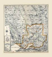 Map of Napa & Solano Counties, California (1913)