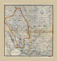Map of Napa & Solano Counties California (1908)