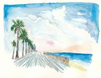 Barceloneta_pathway_walk_and_sea