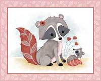 Little Woodland Friends - Raccoon and Baby