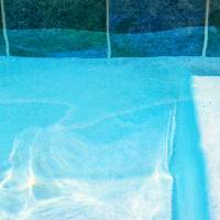 Aqua Agua Abstract Three by Karen Adams