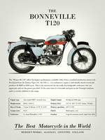 The Bonneville T120 Vintage Advert 1959