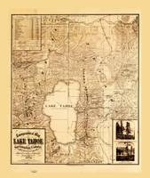 Topographical map of Lake Tahoe (1874)