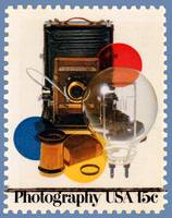 Photograpy USA  Postage Stamp with Equipment