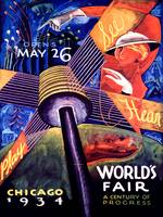 1934 Chicago World's Fair Vintage Poster