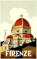 Florence, Italy Vintage Travel Poster