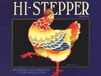 Hi-Stepper Fruit Crate Label Vintage Poster