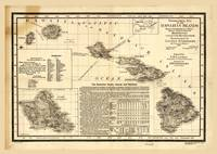 Topographical map of the Hawaiian Islands (1893)
