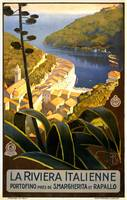 The Italian Riviera Vintage Travel Poster
