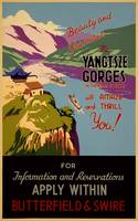 Yangtsze Gorges, China Vintage Travel Poster