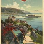"""Travers le Jura, Switzerland Vintage Travel Poster"" by FineArtClassics"