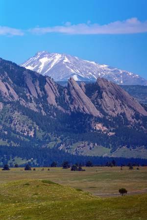 Flatirons Pointing to Longs Peak