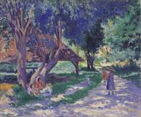 Bessy, Yonne, the Shaded Path Maximilien Luce