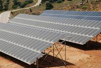 Solar energy array on Tilos