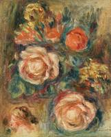 A Bouquet of Roses by Renoir