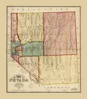 Map of the State of Nevada (1866)