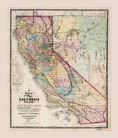 Map of the State of California (1867)