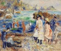 Children on the Seashore, Guernsey by Renoir