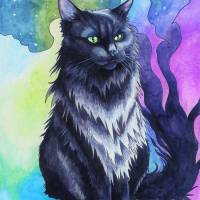 """""""The Shadow Cat"""" by unicorn-crossing"""