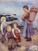 Mussel Fishers at Berneval by Renoir