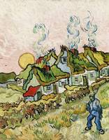 Houses and Figure (1890) by Vincent Van Gogh