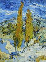 The Poplars at Saint-Rémy (1889) Vincent Van Gogh