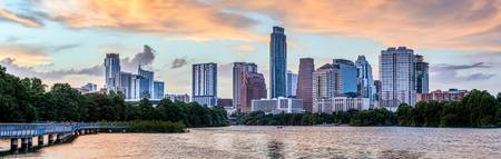 Austin Skyline Sunset Pano 2019