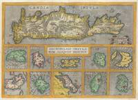Map of Crete and 10 Greek Islands 1584 Ortelius
