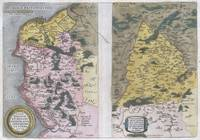 Map of Calais and Vermandois, France 1579 Ortelius
