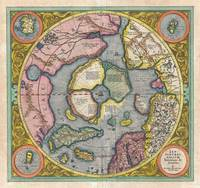 First Map of the Arctic (North Pole) 1606 Hondius